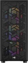 Корпус Aerocool Hive Black Mid Tower FRGB Glass side panel (Hive-G-BK-v2) - изображение 3