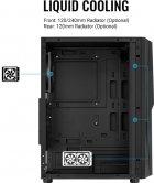 Корпус Aerocool Mecha Black Mid Tower RGB Glass side panel (Mecha-G-BK-v1) - изображение 14