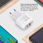 Сетевое зарядное устройство ColorWay (Type-C PD + USB QC3.0) 3.0А 20W White (CW-CHS024QPD-WT) - изображение 12