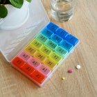 Органайзер для таблеток MVM, 7 дней PC-03 T пластиковый прозрачный - изображение 3