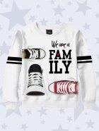 Детский свитшот для мальчика Vilno We are family shoes рост 110-116 (Vil-7638) - изображение 1