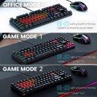 Игровой комплект для ПК 2 в 1 (клавиатура, мышь) Onikuma G26 + CW905 с подсветкой Black - зображення 4