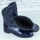 Сапоги резиновые женские силиконовые W-shoes 115b синие на флисе 37 р. (23 см) b-477 - изображение 2