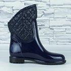 Сапоги резиновые женские силиконовые W-shoes 115b синие на флисе 39 р. (24,5 см) b-477 - изображение 4