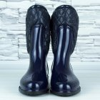 Сапоги резиновые женские силиконовые W-shoes 115b синие на флисе 37 р. (23 см) b-477 - изображение 5