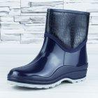 Полусапожки ботинки резиновые W-shoes 111-b утепленные непромокаемые синие 37р (23,5 см) b-608 - изображение 3