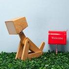 Настольный светильник ( лампа ) деревянная собака 29,5 см - изображение 9