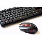 Клавіатура + мишка бездротова UKC HK6500 з адаптером - зображення 3