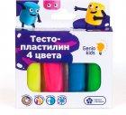 Набор для детской лепки Genio Kids Тесто-пластилин 4 цвета (TA1082) (4814723005800) - изображение 2