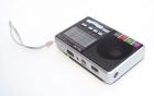 Аккумуляторный портативный радиоприемник Golon RX-2277 FM AM радио колонка с фонариком и USB выходом Черно-серебристый + Электронные часы с будильником и секундомером - зображення 3