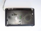 Аккумуляторный портативный радиоприемник Golon RX-2277 FM AM радио колонка с фонариком и USB выходом Черно-серебристый + Электронные часы с будильником и секундомером - зображення 4