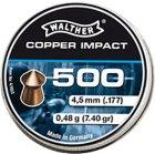 Свинцовые пули Umarex Walther Pointed Waisted Pellets 0.48 г калибр 4.5 (.177) 500 шт (4.1933) - изображение 1