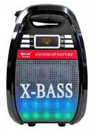 Колонка Golon RX 810 с микрофоном - портативная Bluetooth колонка с радио и светомузыкой - зображення 3