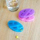Органайзер для таблеток, витаминов, БАДов на 7 дней, пластиковый зеленый MVM PC-04 GREEN - изображение 7