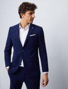 Мужской костюм фирменный в синем цвете от Pierre Cardin, размер 50 (94123/3350) - изображение 4