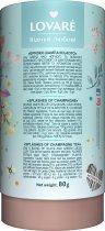Бленд черного и зеленого чая с клубникой и лепестками цветов Lovare Брызги шампанского 80 г (4820097815556) - изображение 2