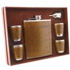 Набор Hip Flask Фляга 18oz+стаканчики+лейка Коричневый 61009 - изображение 3