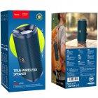 Беспроводная колонка Hoco True Wireless IPX5|BT, TWS, AUX, FM, TF, USB|Dark blue - изображение 4