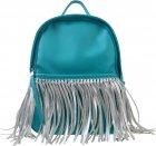 Сумка-рюкзак Yes Weekend 36x26x11 Мятный с бахромой (5060487839123) (554197) - изображение 1