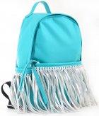 Сумка-рюкзак Yes Weekend 36x26x11 Мятный с бахромой (5060487839123) (554197) - изображение 2