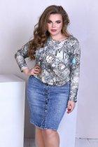 Спідниця джинсова з кишенями на гудзиках Miss Podium Блакитний 48 - зображення 1