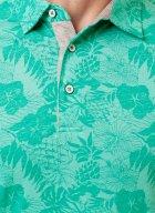 Мужское поло Pierre Cardin C принтом XXL Зеленая (А:52864/6190 М:91262) - изображение 3