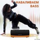 Портативная Колонка Hopestar H39 (Black) музыкальная Беспроводная с PowerBank и аккумулятором - акустическая блютуз система с басом FM micro SD - изображение 3