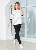Світшот для вагітних KOKO boutique рукав 3/4 S/M білий в чорну полоску - зображення 2