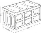 Ящик для зберігання MVM розкладний з кришкою FB-1 30 л Бежевий (FB-1 30L BEIGE) - зображення 7