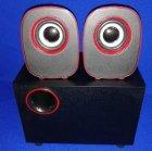 Колонки компьютерные Kronos FT-H3 mini 2.1 USB Черные с красным (gr_010765) - зображення 4