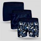 Трусы-боксеры John Frank XL 3 шт Темно-синие (JF3BCA09-XL) - изображение 1
