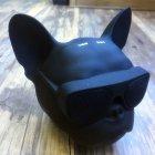 Портативная безпроводная дизайнерская Bluetooth колонка + радио Aerobull DOG Head Mini голова бульдога Черный - изображение 7
