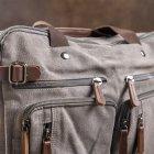 Мужская сумка Vintage leather-20151 Серая - изображение 9