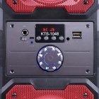 Портативная беспроводная Bluetooth колонка KTS 1048 аккумуляторная с пультом 10 Вт Красная - изображение 2
