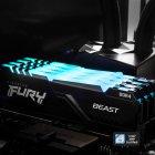 Оперативная память Kingston Fury DDR4-3000 131072MB PC4-24000 (Kit of 4x32768) Beast RGB Black (KF430C16BBAK4/128) - изображение 7
