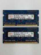 Оперативна пам'ять для ноутбука Hynix SODIMM DDR3 4Gb (2*2Gb) 1333MHz 10600s CL9 (HMT325S6BFR8C-H9 N0 AA) Б/У - зображення 1