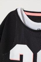 Спортивный топ H&M двухслойный 122-128 черно-белый 3-0017 - изображение 2