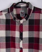 Сорочка BoGi 140 см Вишнево-чорно-біла клітка (001.064.0313.03-140) - зображення 2