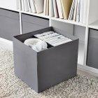 Коробка для хранения IKEA (ИКЕА) DRÖNA 33x38x33 см Темно-серая 104.439.74 - зображення 2