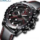 Мужские наручные часы CRRJU 2158 Black-Red - изображение 3