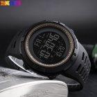 Наручные часы Skmei Amigo 1251 Черные с коричневым - изображение 3
