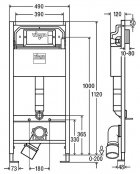 ИнсталяцииVIEGA PrevistaDry771973 c панелью смыва 773717 и креплениями 678630 + унитаз ROCA Gap Rimless A34H470000 с сиденьем Slim Soft Close дюропласт - изображение 2