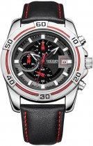 Мужские часы Megir Silver Black MG2023 (ML2023GBK-1) - изображение 1