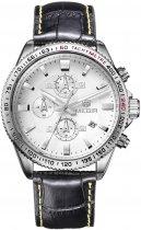 Мужские часы Megir Silver White Black MG3001 (ML3001GBK-7) - изображение 1