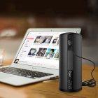 Колонка сенсорна ZEALOT S8 Black 4000 маг мікрофон 6Вт Micro SD 10м Power Bank стерео + чохол - зображення 5