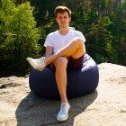 Крісло Мішок Груша Оксфорд 300 120х85 Студія Комфорту розмір Стандарт синій - зображення 4
