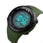 Мужские наручные часы Skmei 1420 Зеленые с белым экраном - изображение 4