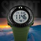 Мужские наручные часы Skmei 1420 Зеленые с белым экраном - изображение 5