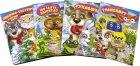 """Комплект із 4 книг-картонок з трьома парами """"оченят"""". Лисичка-сестричка і сірий вовк, Рукавичка, Транспорт, Що їдять звірята? (9789662455854) - изображение 1"""