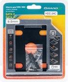 Адаптер подключения Grand-X HDD 2.5'' 9.5 мм в отсек привода ноутбука SATA/SATA3 Slim (HDC-24C) - изображение 3